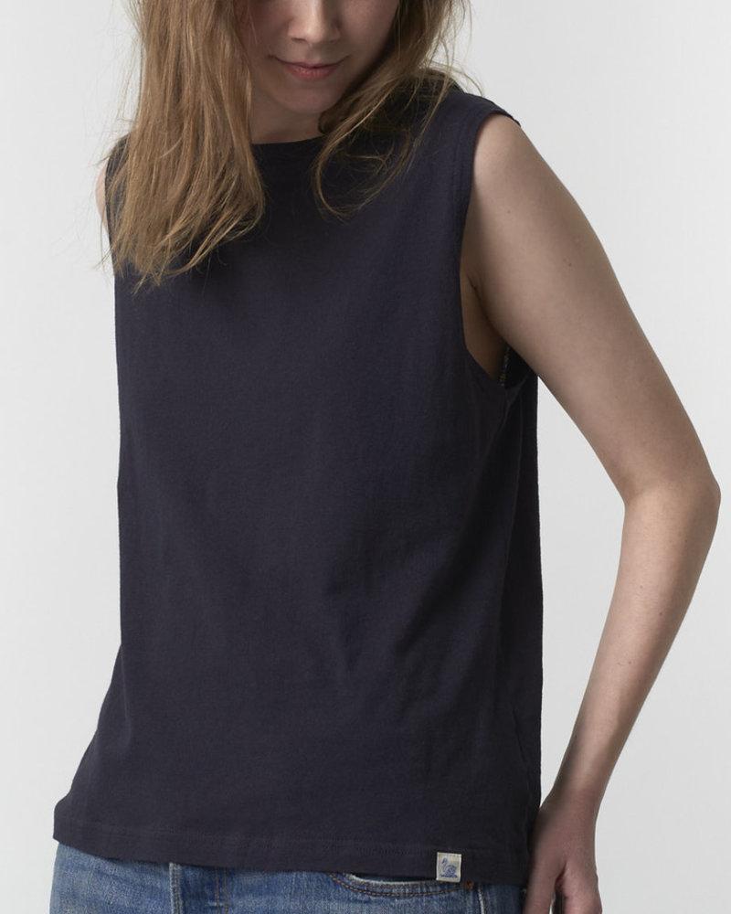 Merz b. Schwanen sleeveless t-shirt charcoal