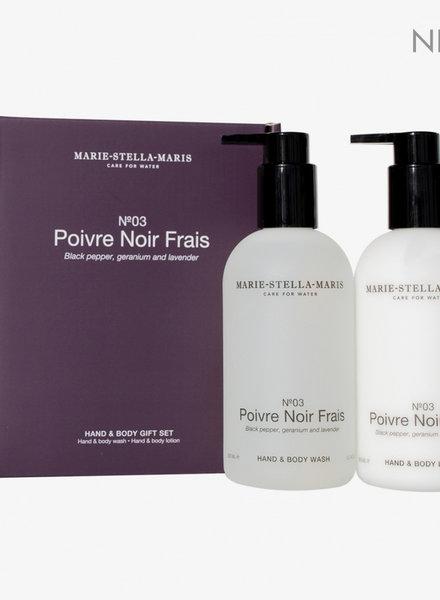 Marie Stella Maris gift set hand & body poivre noir