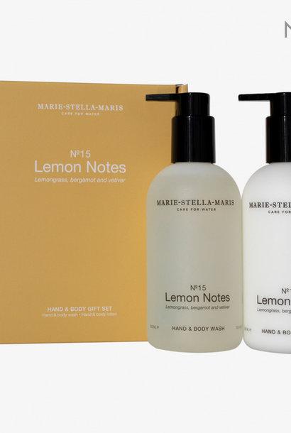 gift set hand & body lemon notes