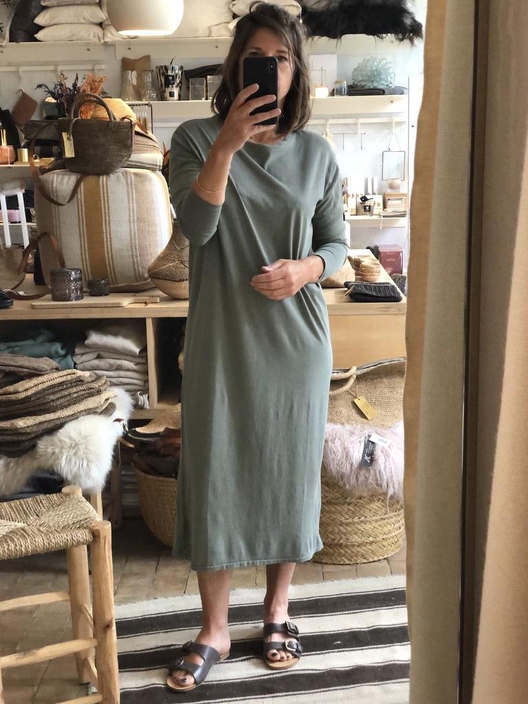 t-shirt dress olive-1