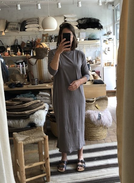 American Vintage t-shirt dress cacao