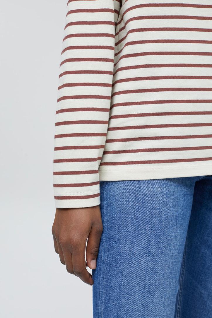 t-shirt stripe plum-3
