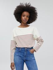 Closed t-shirt stripe plum