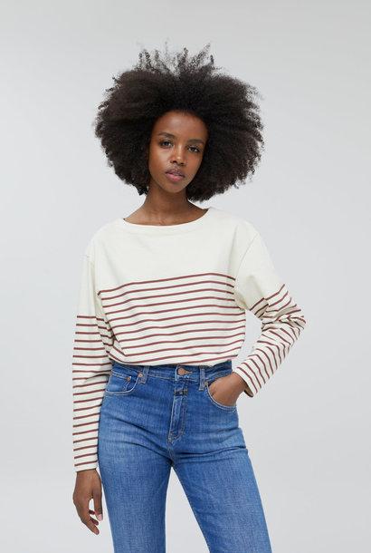 t-shirt stripe plum