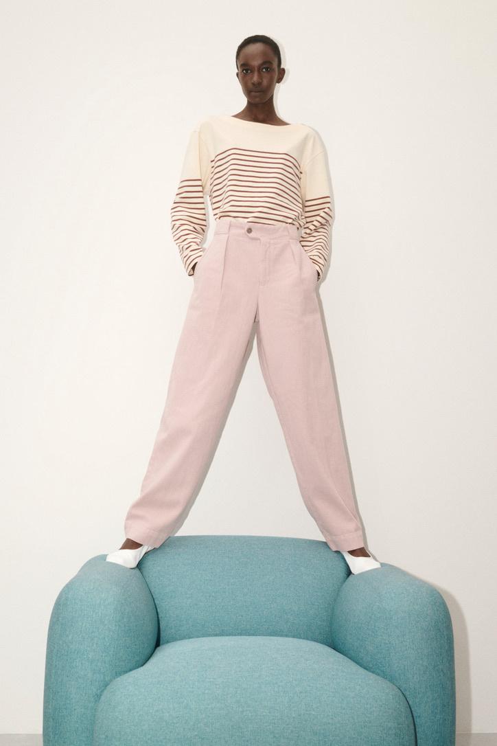 t-shirt stripe plum-4