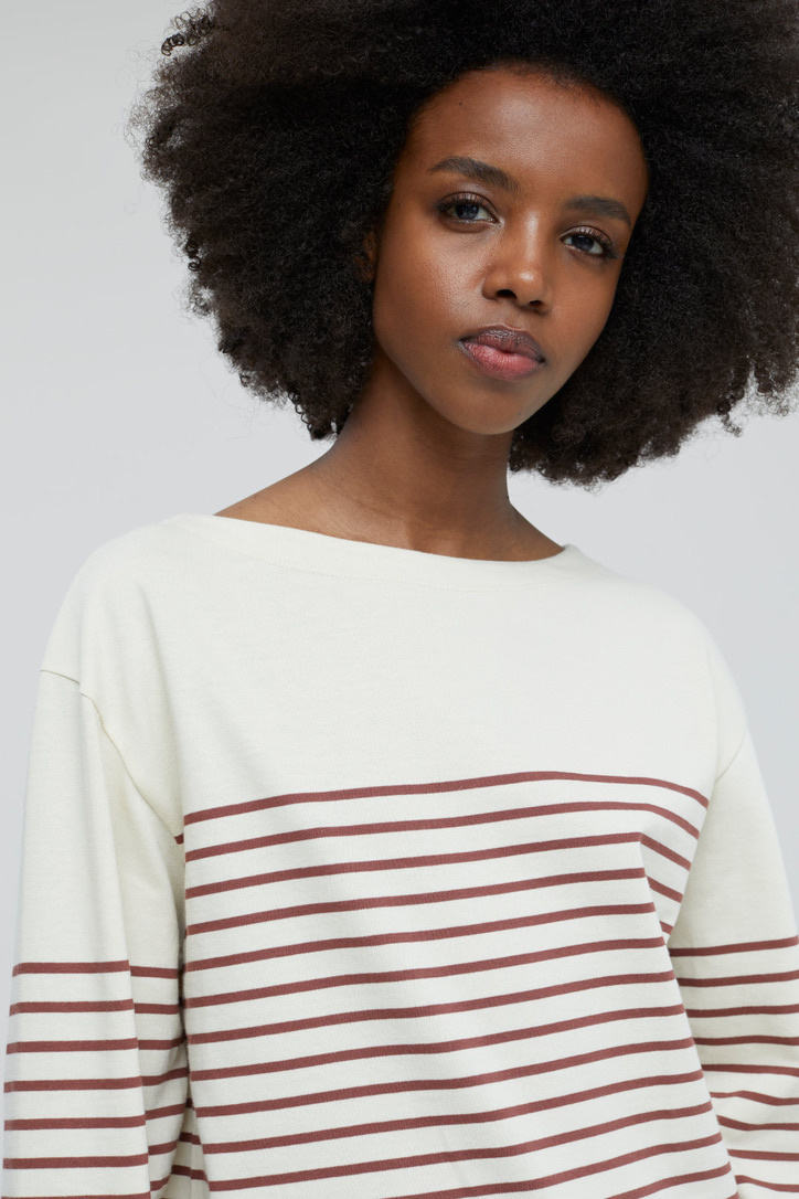 t-shirt stripe plum-5