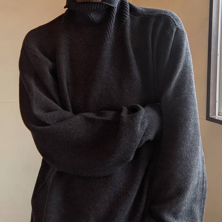 high neck pull grey-5