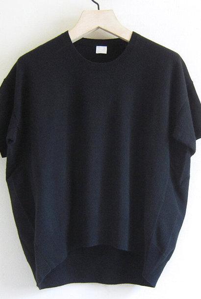 half sleeve knit black