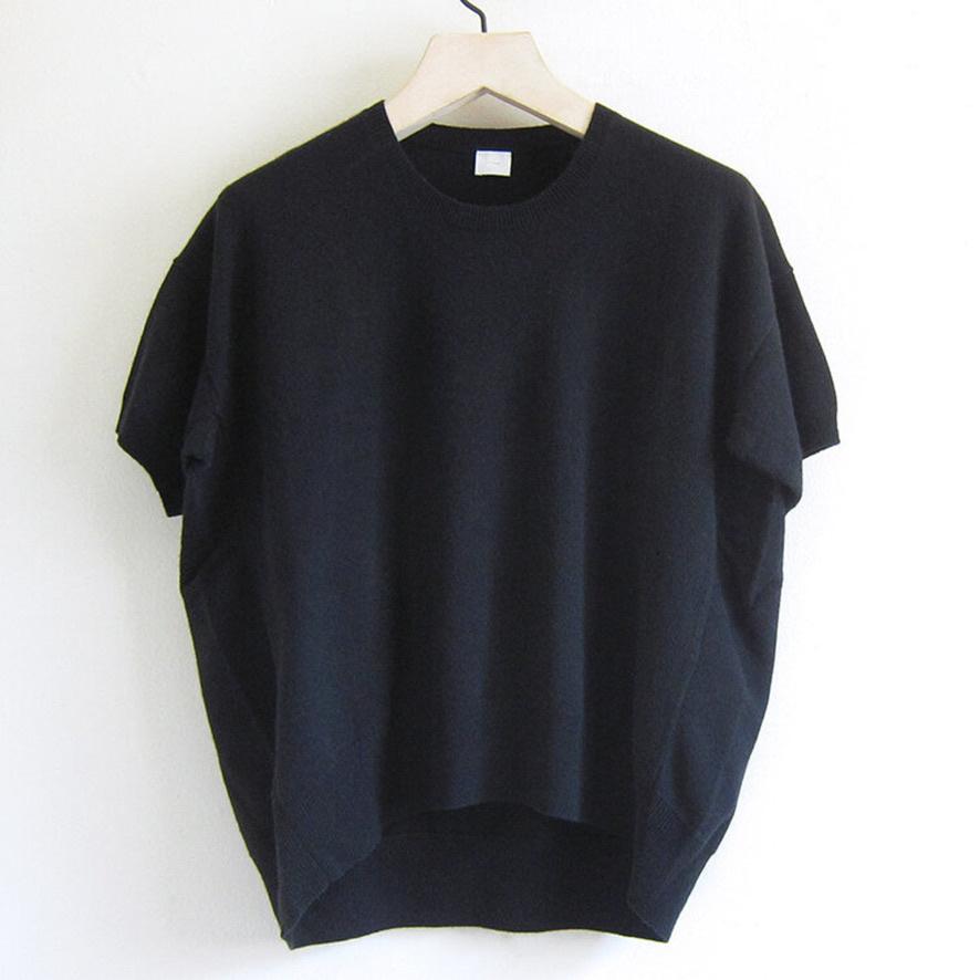 half sleeve knit black-1