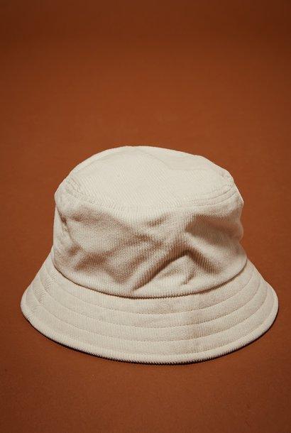 bucket hat off white corduroy