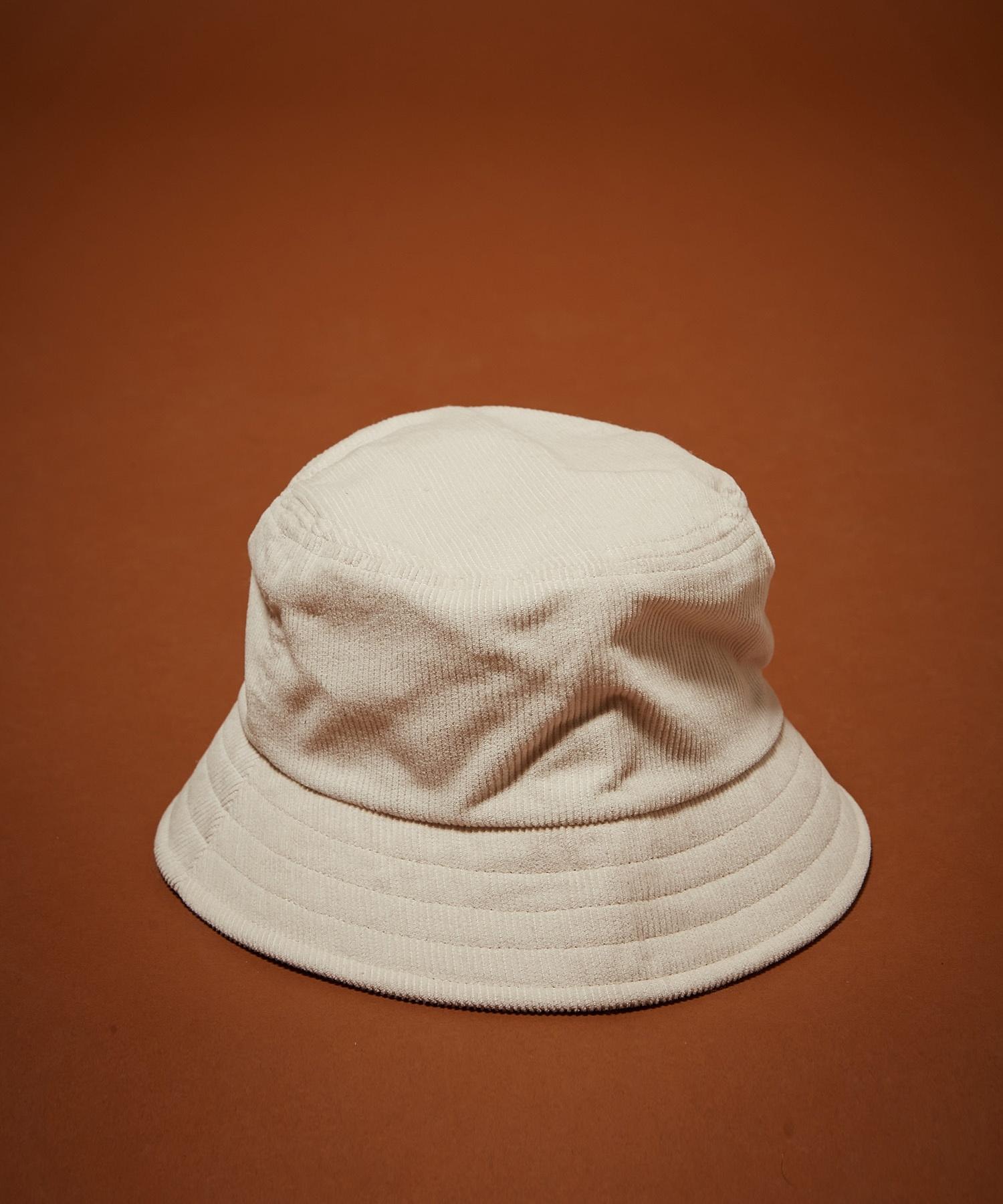 bucket hat off white corduroy-1