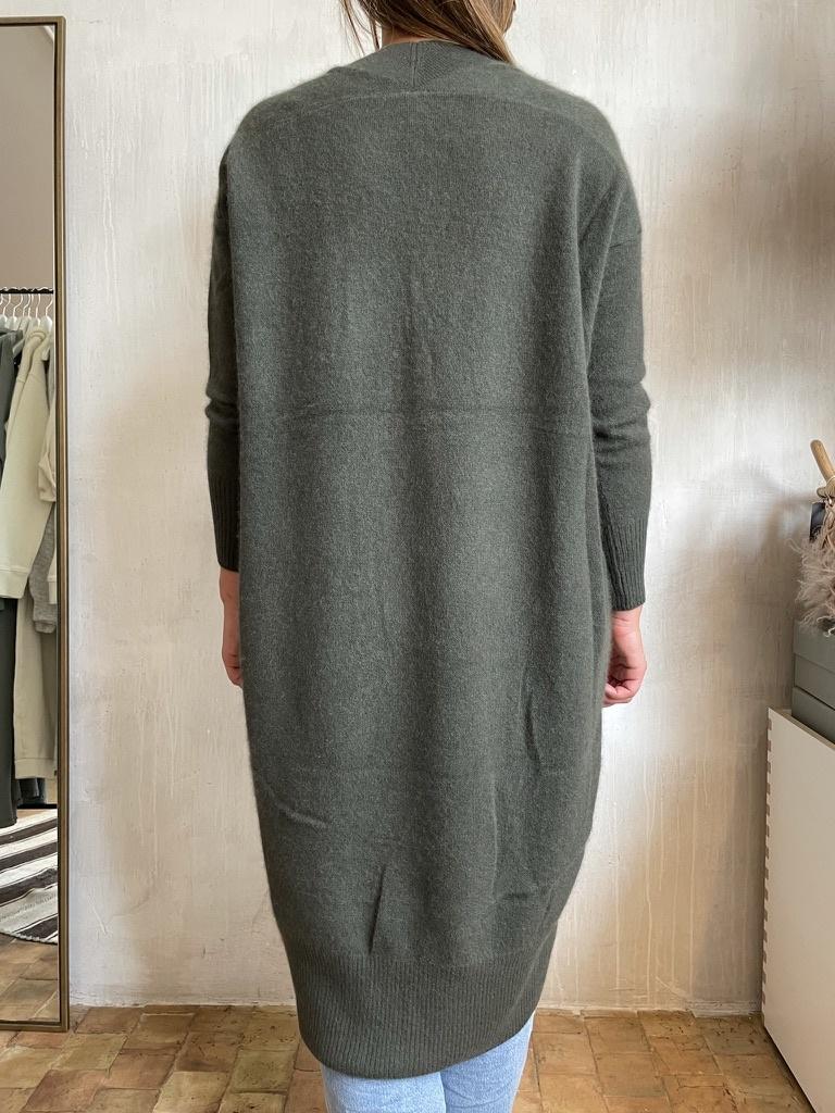 cashmere dress khaki-2