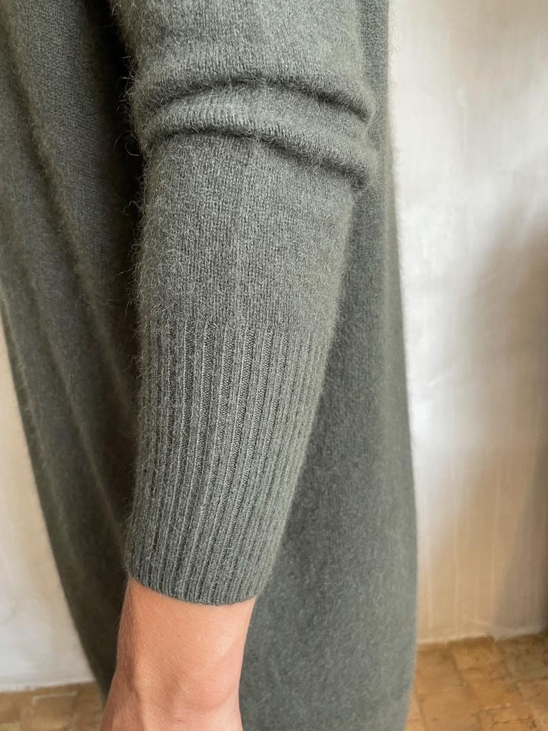 cashmere dress khaki-3