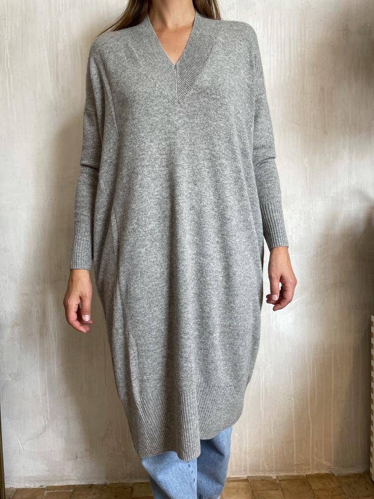 cashmere dress grey-1