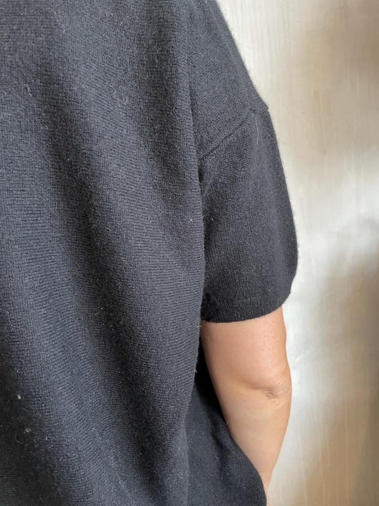 half sleeve knit black-4