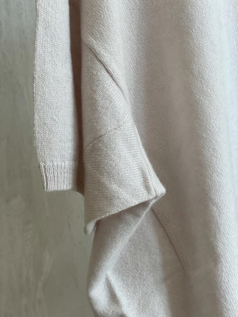 half sleeve knit white-4