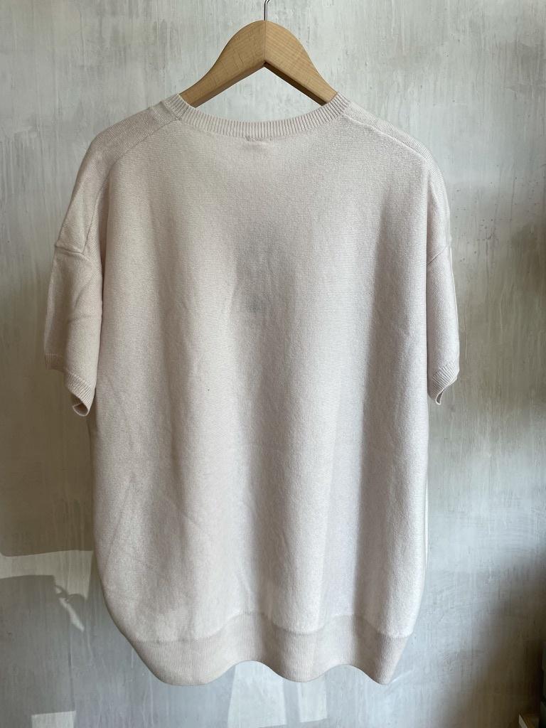 half sleeve knit white-5