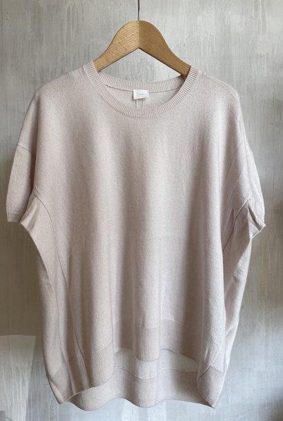 half sleeve knit white