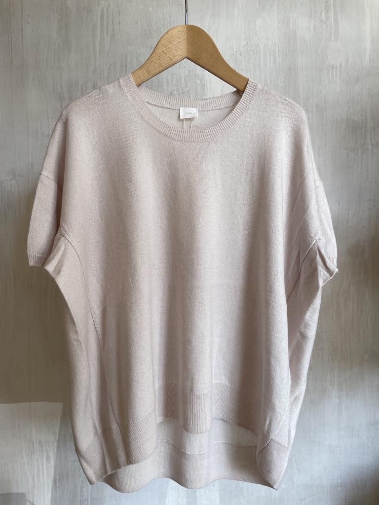 half sleeve knit white-1