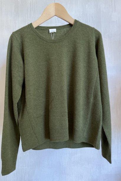 cashmere knit khaki