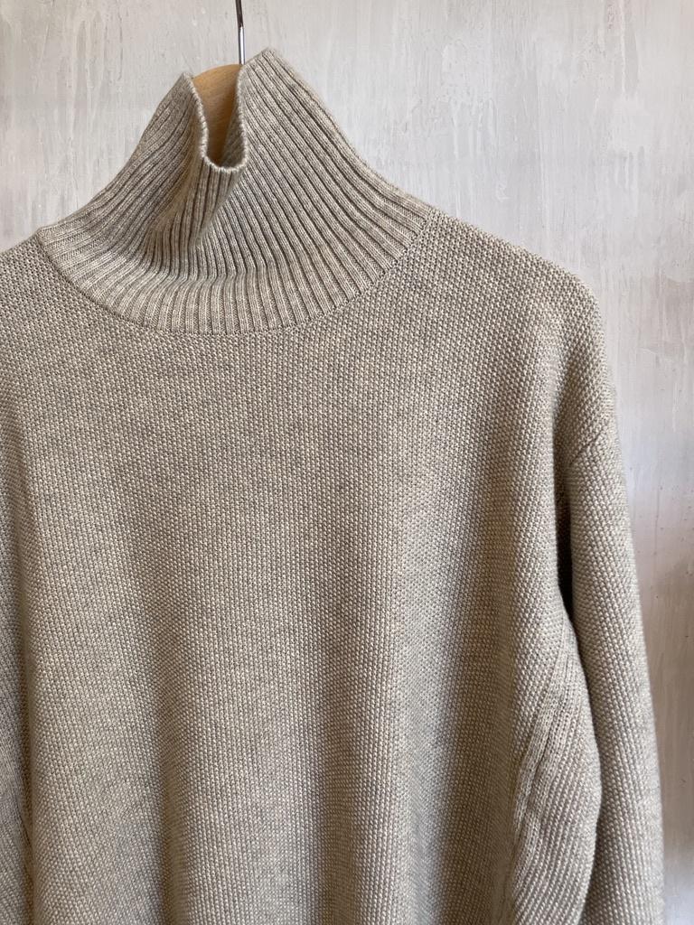 high neck pull beige-3