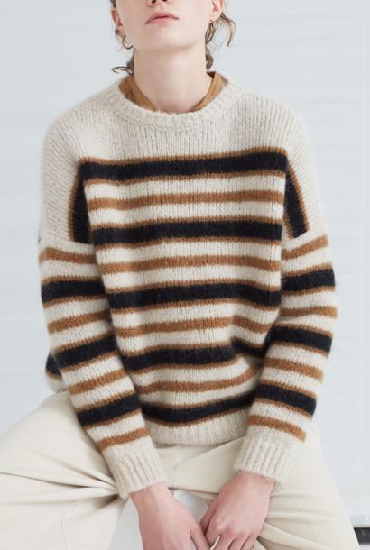 knit  stripe ocre