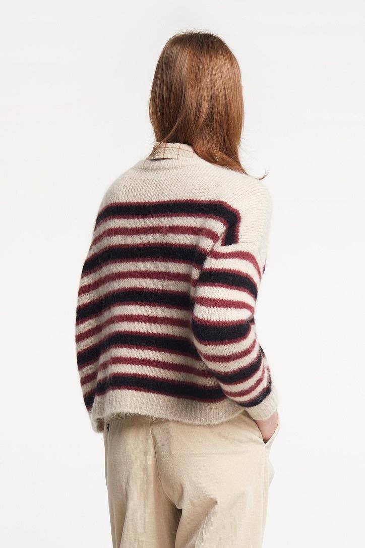 knit  stripe bordeau-3