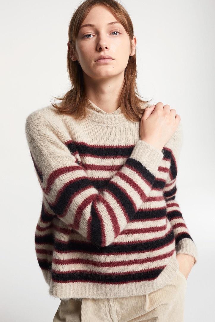 knit  stripe bordeau-2