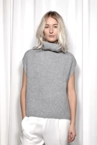 coco vest grey