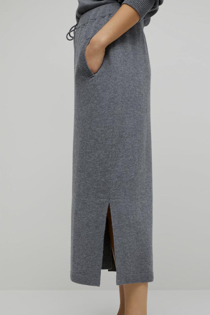 skirt knit grey-3