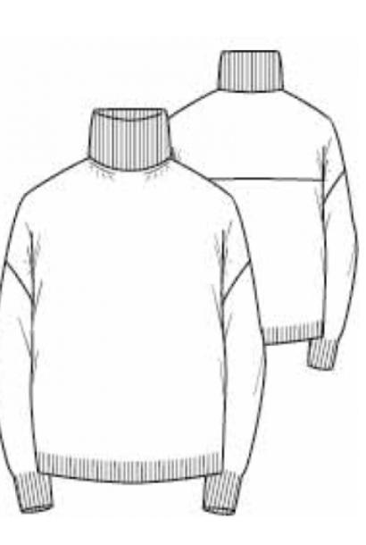 high neck knit grey