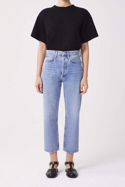 90' crop mid rise loose straight replica