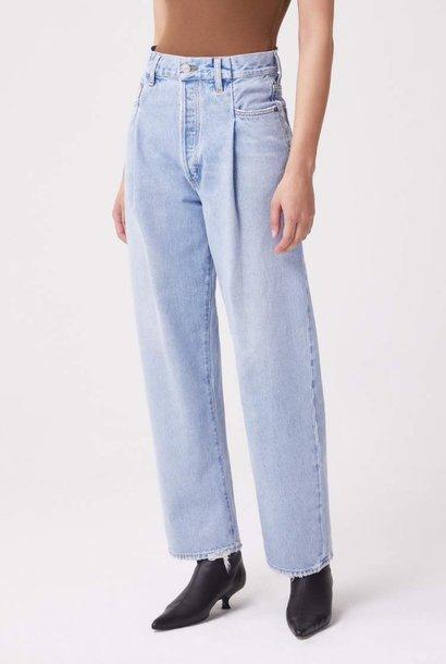 fold waistband jean sideline