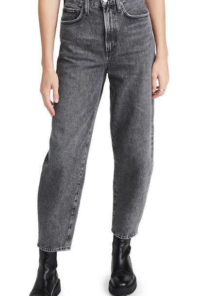 balloon jean high rise curved tap end wicked