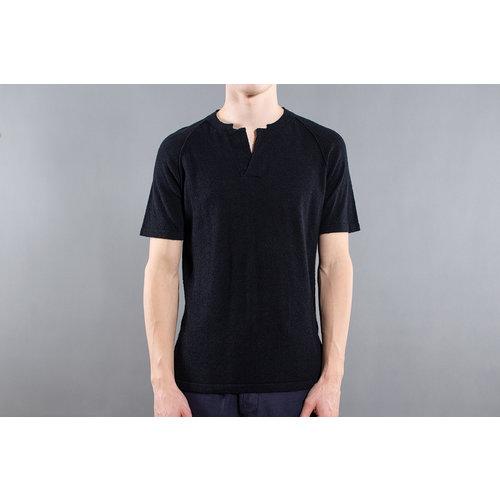 Roberto Collina Roberto Collina Serafino shirt / RA44143 / Zwart