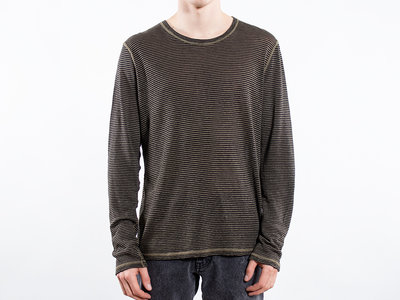 Roberto Collina Roberto Collina Longsleeve T-Shirt / RA68001 / Groen