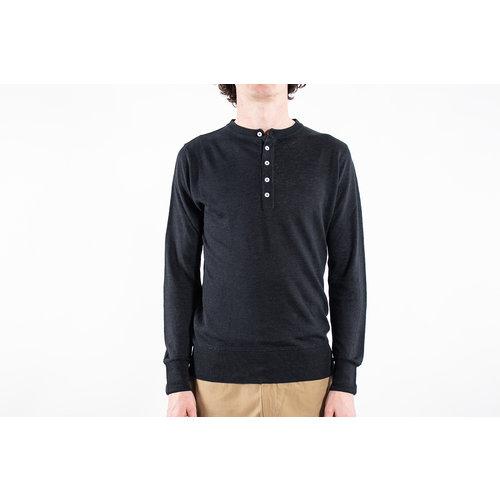 G.R.P. Firenze G.R.P. Firenze Henley sweater / Henley Lungo / Black