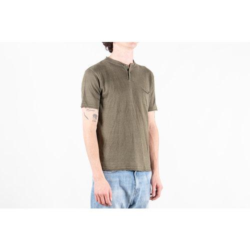 G.R.P. Firenze G.R.P. Firenze T-Shirt / Neo Henley / Groen