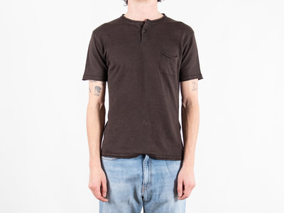 Roberto Collina G.R.P. Firenze T-Shirt / Neo Henley / Brown