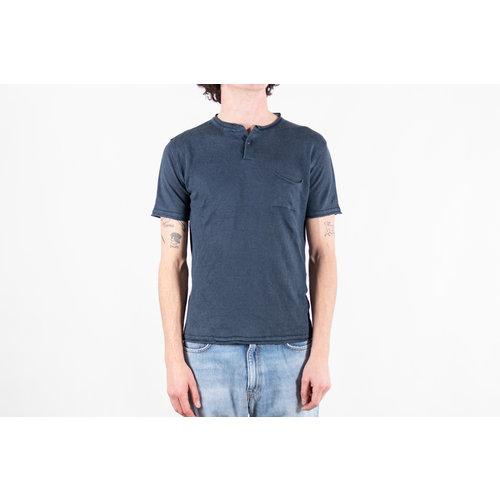 G.R.P. Firenze G.R.P. Firenze T-Shirt / Neo Henley / Blauw
