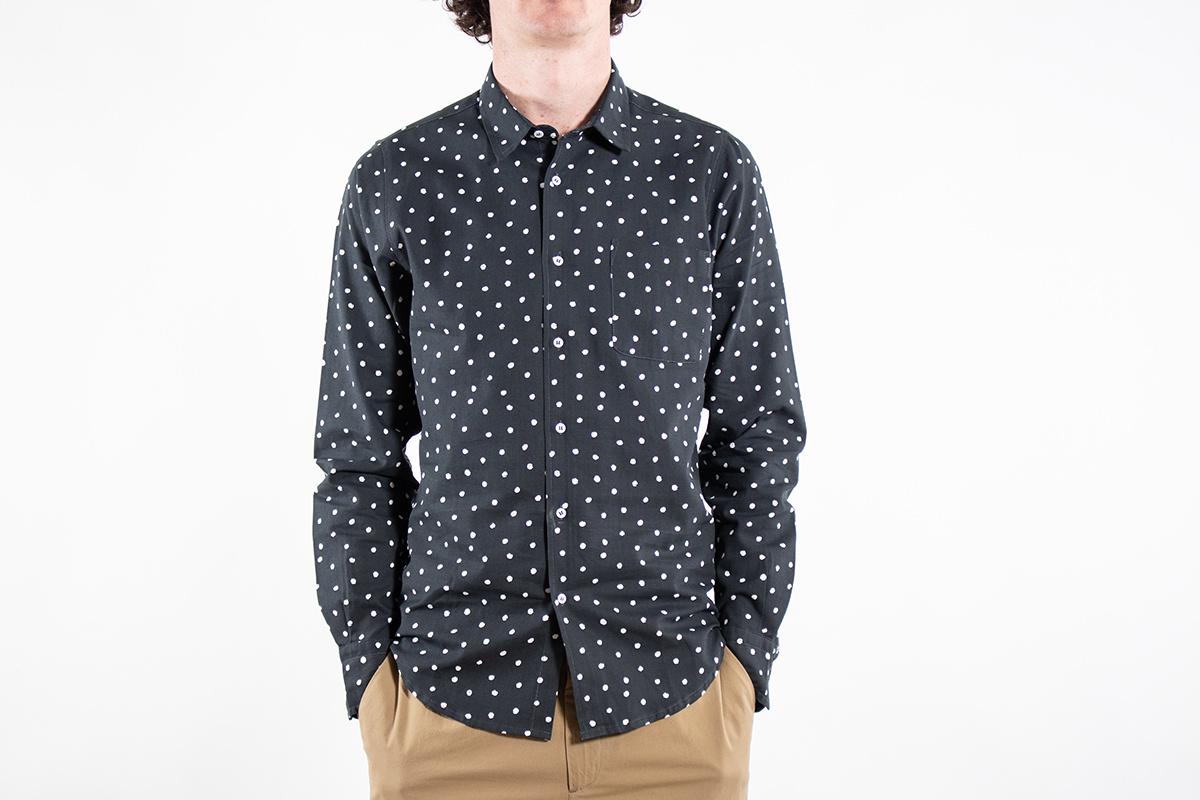 Zwart Overhemd Met Witte Stippen.Fox Haus Overhemd Little Regular Zwart C R I S