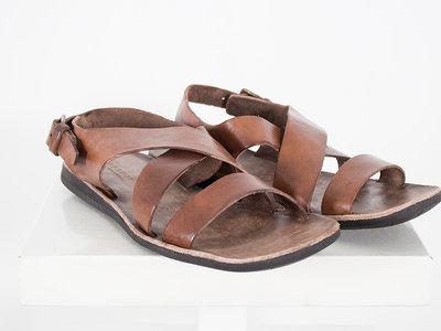 Brador Brador Sandal / 46518 Testa Capo / Dark Brown