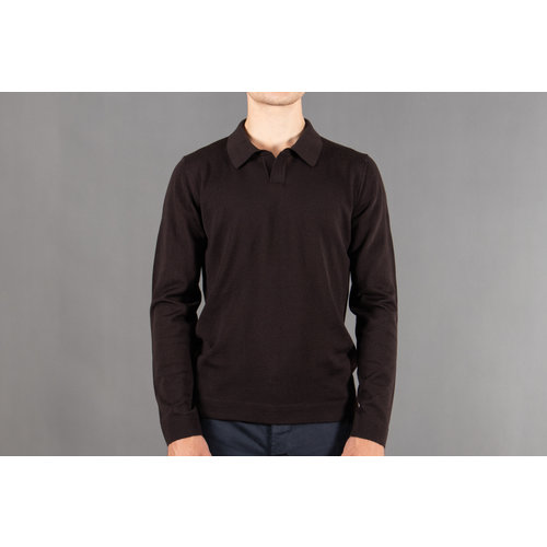 Roberto Collina Roberto Collina Polo LS / RB01004 / Dark brown