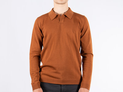 Roberto Collina Roberto Collina Polo LS / RB01004 / Brown