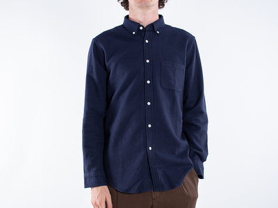 Portuguese Flannel Portuguese Flannel Overhemd / Suave Blue / Donkerblauw