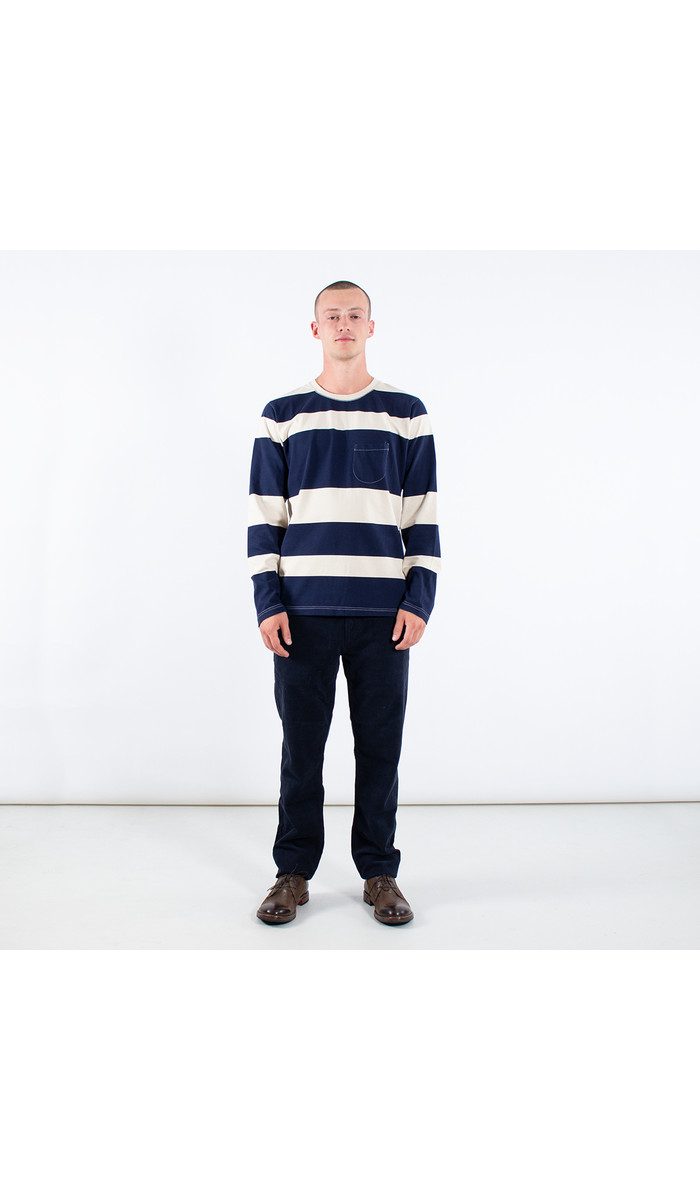 Universal Works Universal Works T-shirt / Long Sleeve Tee / Navy