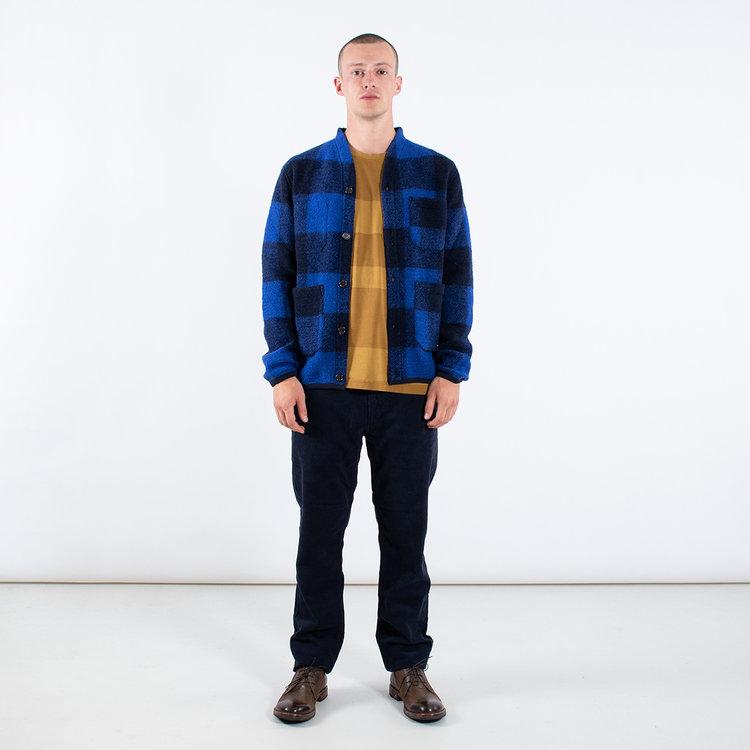 Universal Works Universal Works Vest / Cardigan / Blauw