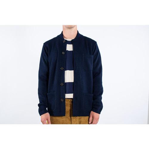 Universal Works Universal Works Vest / Knit Work Jacket / Navy