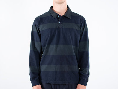 Universal Works Universal Works Longsleeve polo / Rugby shirt / Navy