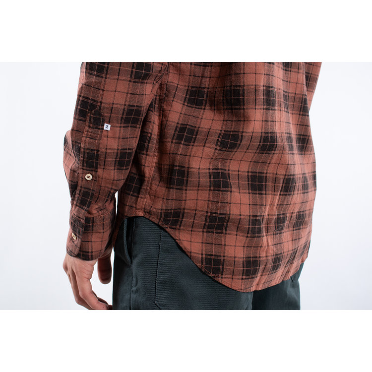 7d 7d Shirt / Fourty-Four Check / Copper